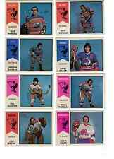 1974-75 OPC WHA lot - pick only the cards that you need EX-MT