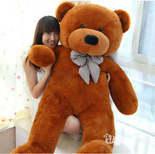 "23.6"" 60CM TEDDY BEAR Dark Brown SOFT PLUSH GIANT STUFFED ANIMAL Toy Gifts"