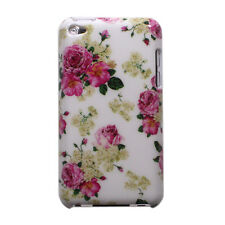Pink Flower Rose Floral Pattern Hard Case Cover for iPod Touch 4 4th Generation