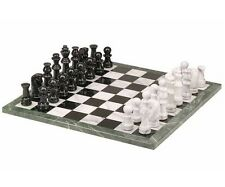 "16"" New Black & White Marble Chess Game 32 Pieces Set 3 3/8"" King"