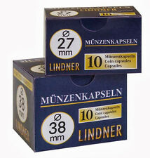 100 Lindner Coin capsules / Size 26 for / Commemorative