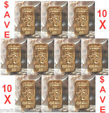 GOLD 24K PURE BULLION 10  BARS of one third GRAM 999 FINE INGOT LOT $AVE ! BIN13