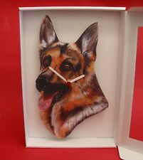 German Shepherd Dog Wooden Wall Clock Head Pet Gift Mum Dad Alsatian Gift NEW