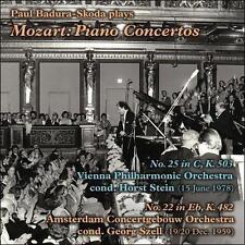 Paul Badura-Skoda Plays Mozart: Piano Concertos CD NEW