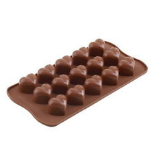 15 Silicone Ice Cube Chocolate Cake Jelly Tray Pan Heart Maker Mold Mould JL