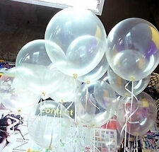 Lot 100pcs Clear Transparent Latex Balloons Party Wedding Birthday Decor 10 inch