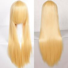 80cm Curly Straight Wavy Long Heat Resistant Women Anime Halloween Cosplay Wig