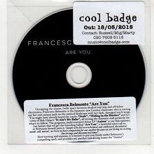 (GG387) Francesca Belmonte, Are You - 2015 DJ CD