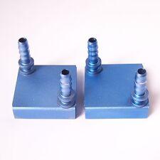 2 Pcs Aluminum Water Cooling Block Square Liquid Cooler For PC CPU 40*40 mm W27