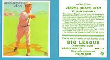 1933 Goudey Reprint #223 (Jerome) Dizzy Dean Card - St. Louis Cardinals