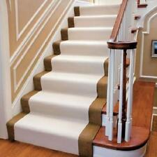 20 FOOT BEIGE NON SLIP CARPET STAIR FLOOR PROTECTOR RUNNER RUG