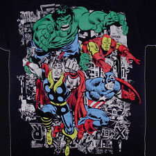 Avengers T-Shirt Medium Retro Marvel Comic Hulk Iron Man Thor Captain America