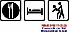 EAT SLEEP SEX Decal Sticker JDM Funny Vinyl Car Window Bumper Truck Laptop 7""