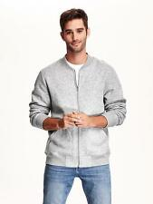 Brand New Old Navy Men's Fleece Baseball Jacket Heather Grey Size M Medium NWT
