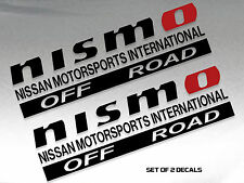 "NISMO OFF ROAD DECAL STICKER BLACK AND RED 12""X3.5"" SET OF 2"