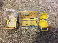Sylvanian Families Baby Duck Carry Case With Rare Yellow Double Pram