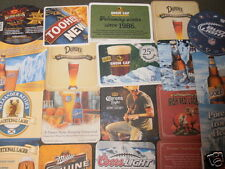 BEER BAR COASTER  LOT OF 30  CORONA NFL BUD LIGHT COORS LIGHT BLUE MOON MGD SAM