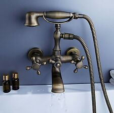 antique brass wall mounted bathroom basin mixer faucet tap gv-71837