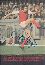CHARLIE GEORGE HAND SIGNED ARSENAL MAGAZINE PHOTO.