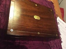 Antique Large Mahogany box Mother of pearl inlay