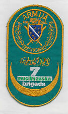 BOSNIA ARMY  -  7th MUSLIM BRIGADE, 3rd CORPS - Lux.embroidered war time patch