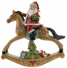 Victorian Style Rocking Horse Santa on Traditional Christmas Rocking Horse