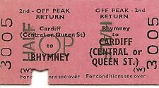 B.R.B. Edmondson Ticket - Rhymney to Cardiff Central or Queen St.