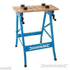 Silverline Heavy Duty Flip-top Workmate 150kg Bench Workbench Flip Clamp