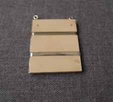 ANTIQUE 1920'S ART DECO MACHINE AGE BEIGE GALALITH & CHORMED METAL PENDANT