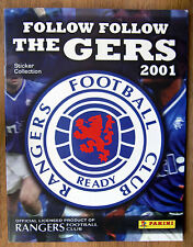 "Panini ""FOLLOW FOLLOW THE GERS"" 2001 Complete Loose Set + Album & Wrapper"