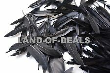 100 Black duck feathers, loose duck feathers, small feathers for crafts decor