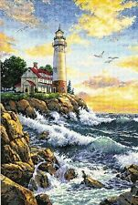 Dimensions - Counted Gold Cross Stitch Kit - Rocky Point - Lighthouse - D03895