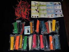 Bendaroos Replacement Building Sticks Huge Rainbow Lot 100's w/guides Craft A99