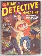 Pulp DIME DETECTIVE June 1952 - Fredric Brown TO SLAY A MAN ABOUT A DOG!