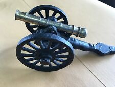 Vintage 1960s Cannon Brass and Cast Iron Toy