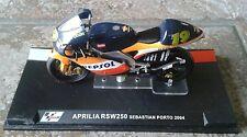 APRILIA rsw250 SEBASTIAN PORTO 2004 SCALA 1:24 MOTO GP Modello