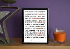 Framed - Passenger - Let Her Go - Poster Art Print - 5x7 Inches