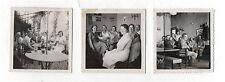 Lot 3 PHOTOS - Vintage Snapshot - Café Syphon Verre Groupe Intérieur Vers 1930