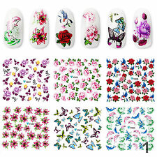 6PCS Nail Transfer Stickers Water Decals DIY Gel Acrylic French Nail Manicure