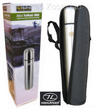 Thermos Vacuum Hot Cold Flask Stainless Steel Water Bottle 1L 1 Litre + Case