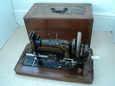 Antique Frister Rossmann Hand Crank Sewing Machine  1903-1907, with cover, TLC
