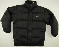 FILA feather down padded insulated black jacket mens Medium M