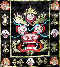 BROCADE COLORFUL WRATHFUL PROTECTOR MAHAKALA TIBETAN BUDDHIST ALTAR/SHRINE CLOTH