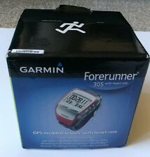 GARMIN FORERUNNER 305 with heart rate GPS ENABLED TRAINER In Box w/ Extras