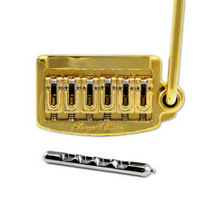 Floyd Rose Rail Tail Tremolo Kit Gold for Strat Style guitars, Narrow RT300N
