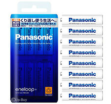 8 Panasonic Eneloop 1900 mAh AA Batteries 2100 Times Rechargeable NiHM Batteries