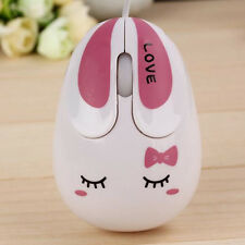 Cute Sad Rabbit Shaped Wired MOUSE Mice with USB Cable For PC Computer Laptop