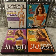 Jillian Michaels & Jackie WORKOUT DVD LOT 30 Day Shred, No More Trouble Zones +
