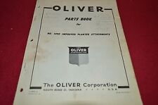 Oliver Tractor 1095 Improved Planter Attachments Dealer's Parts Book Manual BVPA