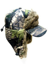 Camouflage Camo Trooper Bomber Green RealTree Faux Visor Hat Winter Cap Hunting